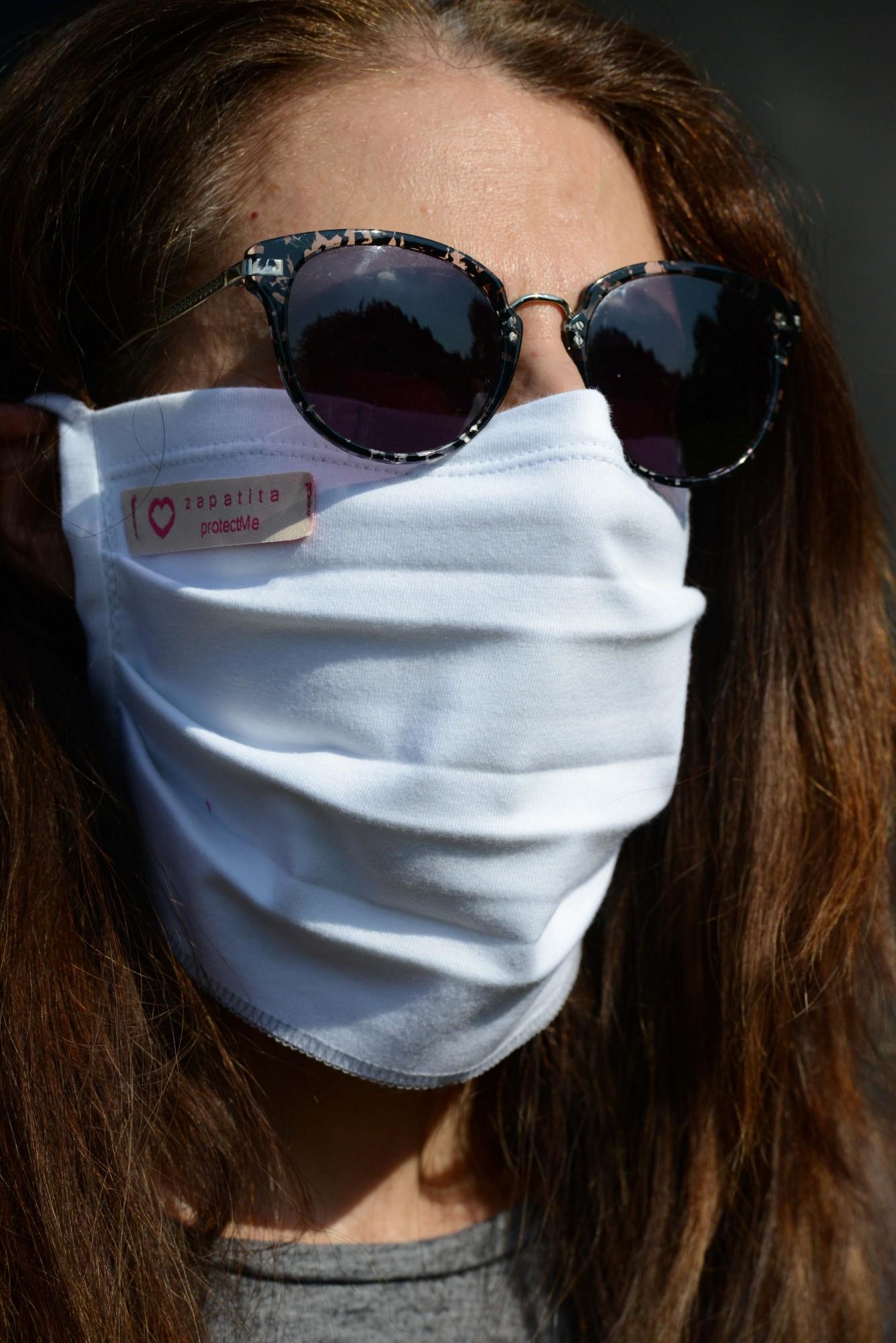 """Behelfsmäßige Mund-Nasen-Maske (""""Alltagsmaske"""", """"Community-Maske"""") – ohne Aufdruck (1 Packung=2 Stück)"""